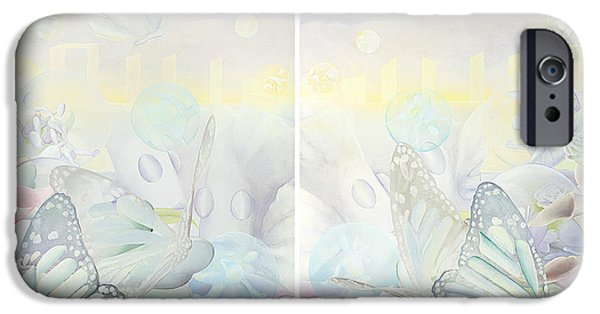 Pastel iPhone Cases - Butterfly Dream  iPhone Case by Kristin Meyer