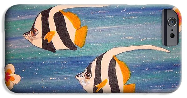 Marine iPhone Cases - Butterfly Fish iPhone Case by Julie Rae