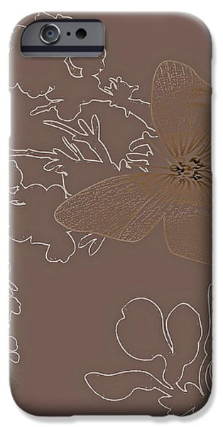 BUTTERFLY FLORAL  9 iPhone Case by Debra     Vatalaro