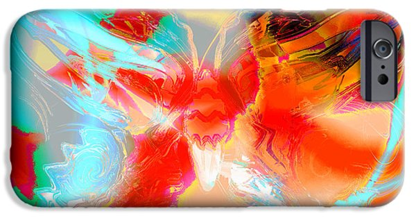Blue Abstracts iPhone Cases - Butterfly Spirit iPhone Case by Stephen  Killeen