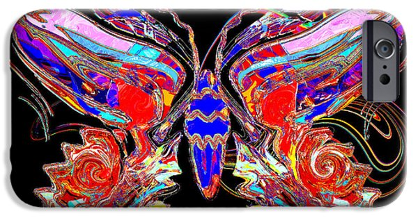 Contemporary Abstract iPhone Cases - Butterfly Swirls iPhone Case by Stephen  Killeen