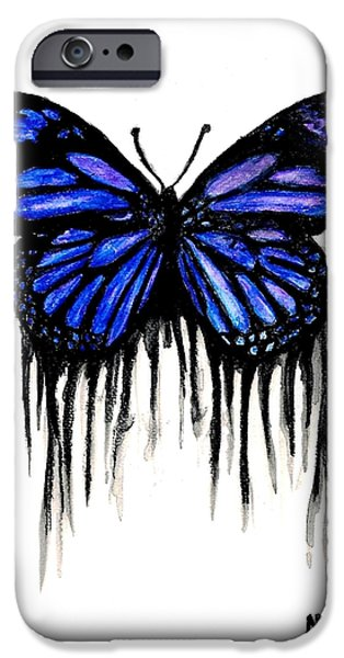 Butterfly Tears iPhone Case by Mike Grubb