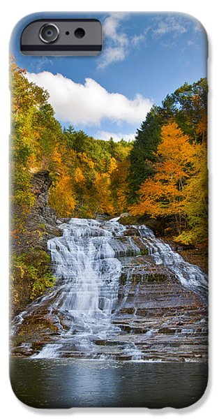 Leaf Change iPhone Cases - Buttermilk Falls 2 iPhone Case by Mark Papke