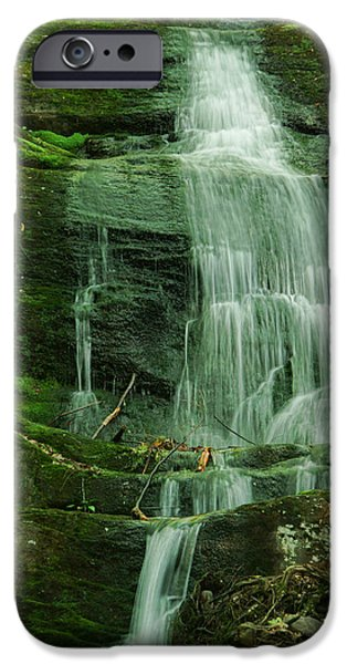 Ledge iPhone Cases - Buttermilk Falls iPhone Case by Louise Reeves