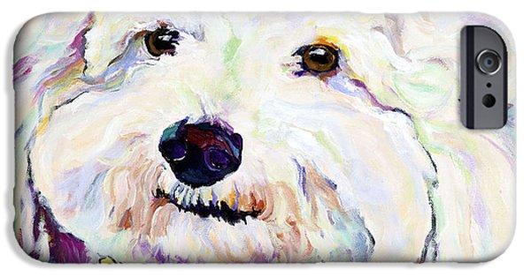 Puppies iPhone Cases - Buttons    iPhone Case by Pat Saunders-White