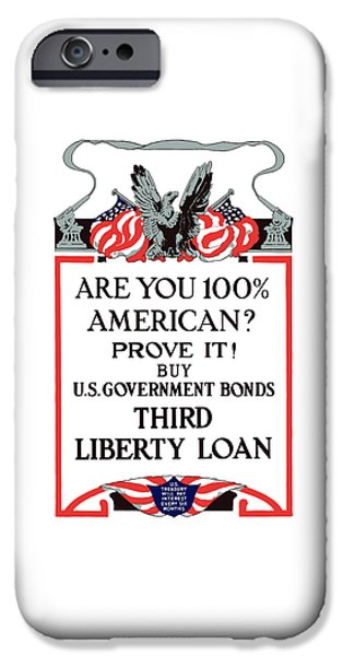 Wwi iPhone Cases - Buy U.S. Government Bonds iPhone Case by War Is Hell Store