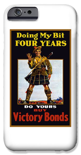 First World War iPhone Cases - Buy Victory Bonds iPhone Case by War Is Hell Store