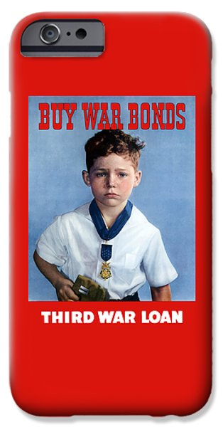 Ww1 iPhone Cases - Buy War Bonds -- Third War Loan iPhone Case by War Is Hell Store
