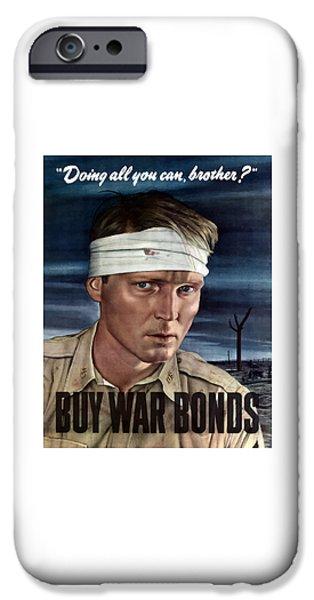 Battlefield iPhone Cases - Buy War Bonds iPhone Case by War Is Hell Store
