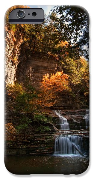 Buttermilk Falls iPhone Cases - By Dawns Early Light iPhone Case by Neil Shapiro