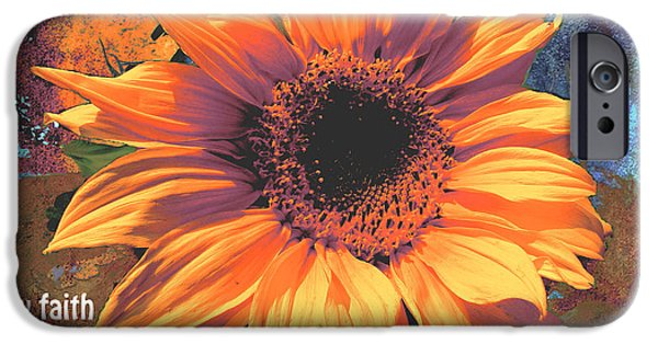 Floral Digital Art Digital Art iPhone Cases - By Faith We Understand Hebrews 11 1 iPhone Case by Beverly Guilliams