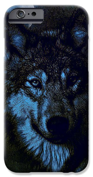 Photo Manipulation Drawings iPhone Cases - By the Light of the Moon - Tied for 2nd Place iPhone Case by EricaMaxine  Price
