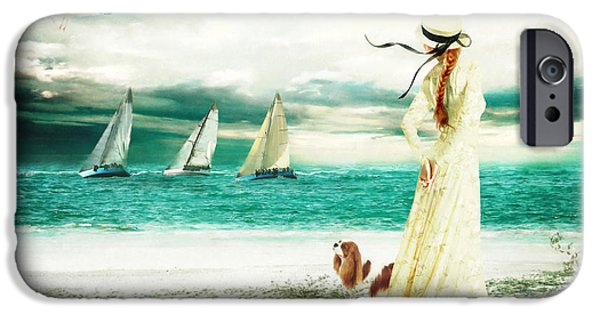 Yachting iPhone Cases - By the Sea iPhone Case by Shanina Conway