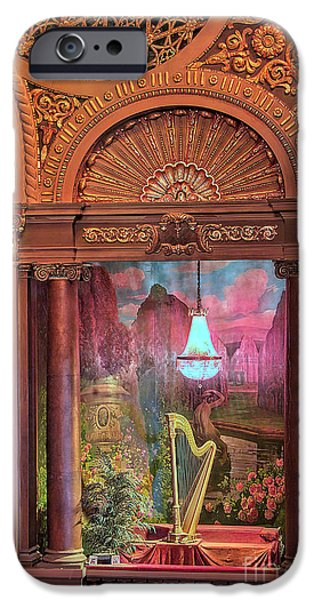 Empire State iPhone Cases - Byrd Theater Harp Opera Box iPhone Case by Jemmy Archer