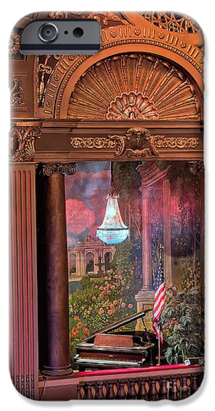 Empire State iPhone Cases - Byrd Theater Piano Opera Box iPhone Case by Jemmy Archer