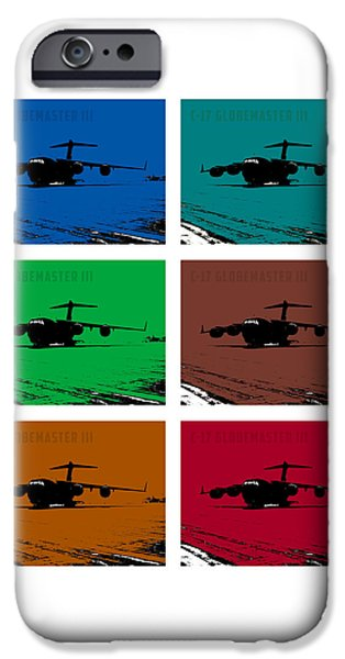 Iraq Prints iPhone Cases - C17 Globemaster III  iPhone Case by John Bainter