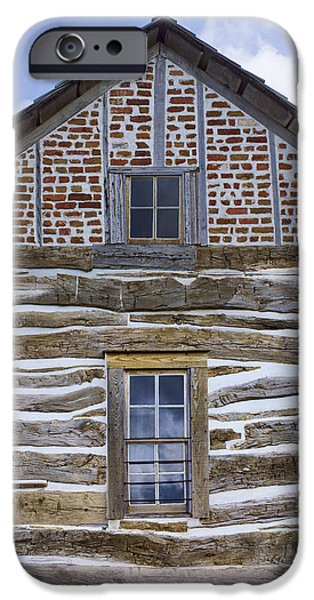 Cabin Window iPhone Cases - Cabin - Homestead - National Monument iPhone Case by Nikolyn McDonald