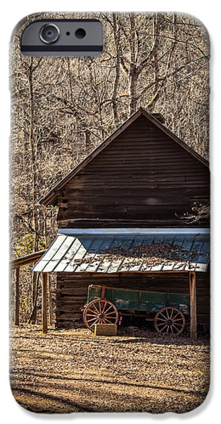 Old Barns iPhone Cases - Cabin in the Woods iPhone Case by Brent Paape