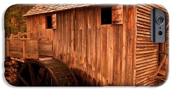 Grist Mill iPhone Cases - Cades Cove Grist Mill 1 in sepia iPhone Case by Jason Wade