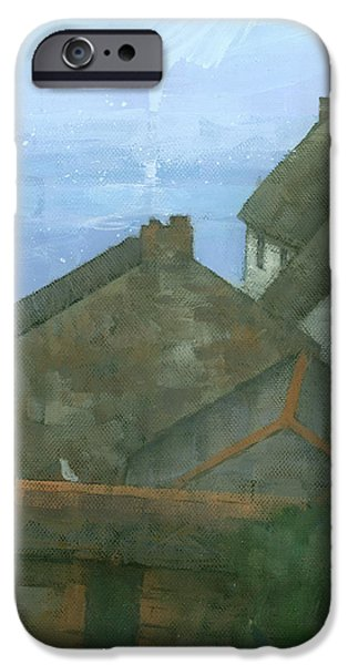 Cadgwith Rooftops iPhone Case by Steve Mitchell
