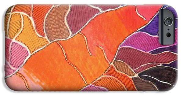 Nature Abstract iPhone Cases - Cadmium Road iPhone Case by Lesa Weller