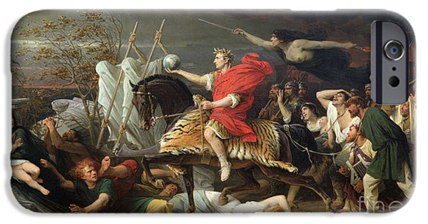 Roman Emperor iPhone Cases - Caesar iPhone Case by Adolphe Yvon
