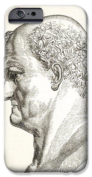 Flavius iPhone Cases - Caesar Vespasianus Augustus Or Titus iPhone Case by Vintage Design Pics