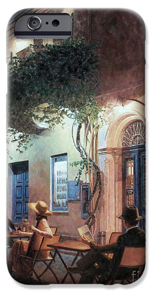 Recently Sold -  - Drama iPhone Cases - Cafe At Night iPhone Case by Theo Michael