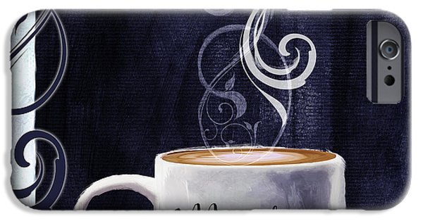 Cafe Au Lait iPhone Cases - Cafe Blue III iPhone Case by Mindy Sommers