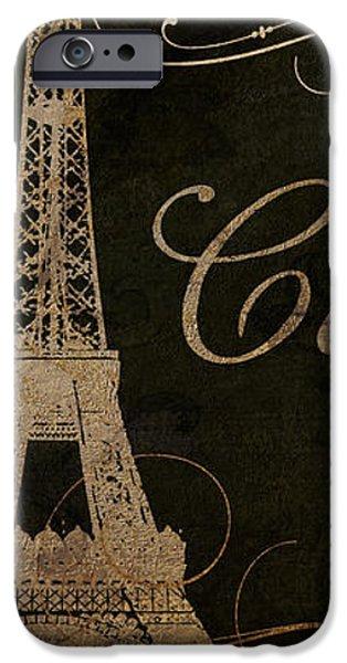 Paris Paintings iPhone Cases - Cafe de Paris  iPhone Case by Mindy Sommers