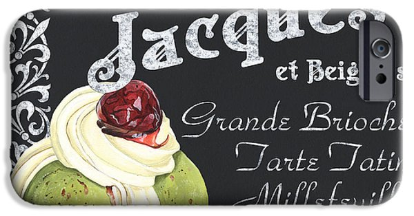 Cafes Paintings iPhone Cases - Cafe Jacques iPhone Case by Debbie DeWitt