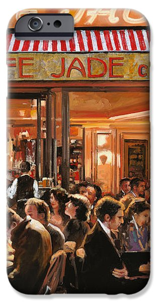 Cafe Jade iPhone Case by Guido Borelli
