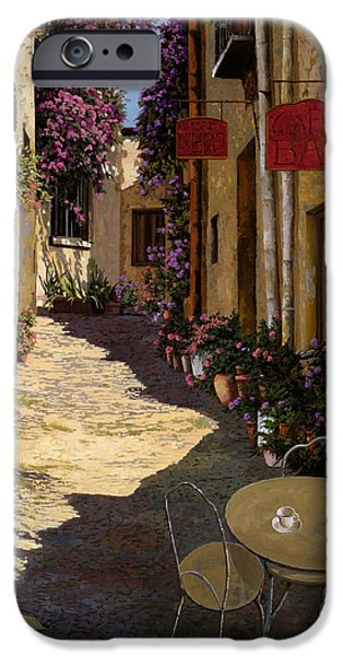 Door iPhone Cases - Cafe Piccolo iPhone Case by Guido Borelli