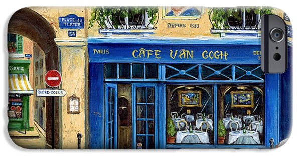 French Doors iPhone Cases - Cafe Van Gogh II iPhone Case by Marilyn Dunlap