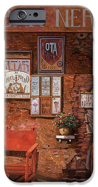 Shops iPhone Cases - caffe Nero iPhone Case by Guido Borelli