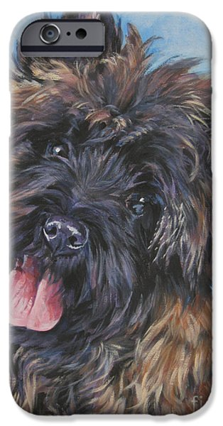 Cairn terrier Brindle iPhone Case by Lee Ann Shepard