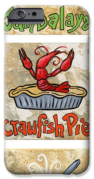 Cajun Trio White iPhone Case by Elaine Hodges