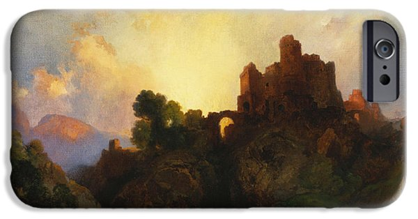 Castle iPhone Cases - Caledonia iPhone Case by Thomas Moran
