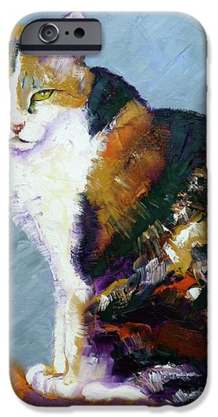 Calico Buddy iPhone Case by Susan A Becker