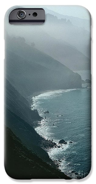 Fog Mist iPhone Cases - California coastline iPhone Case by Unknown