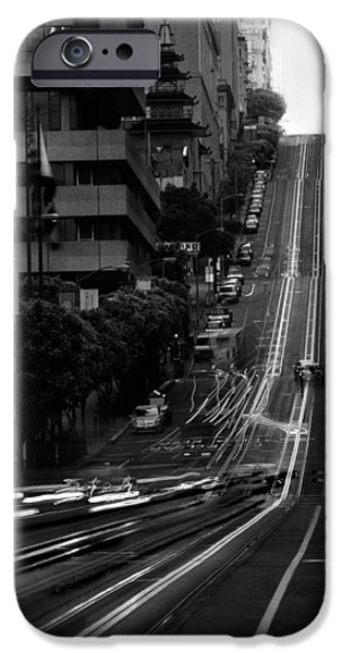 Cable iPhone Cases - California St San Francisco iPhone Case by Steve Gadomski