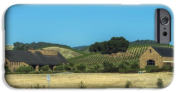 California Vineyard iPhone Cases - California Vineyard And Winery iPhone Case by Mountain Dreams
