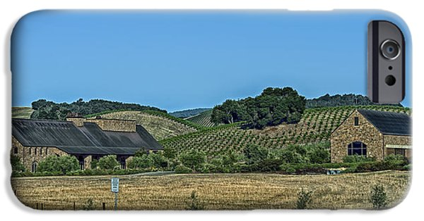 California Vineyard iPhone Cases - California Winery And Vineyard iPhone Case by Mountain Dreams