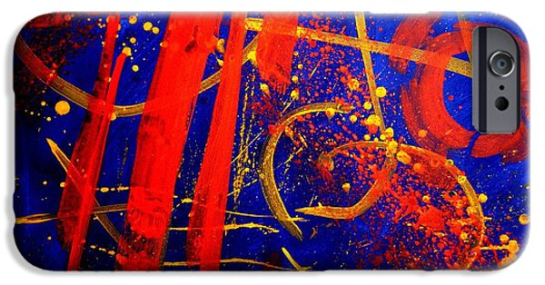 Fine Art Abstract iPhone Cases - Calligraphic Abstract iPhone Case by John  Nolan