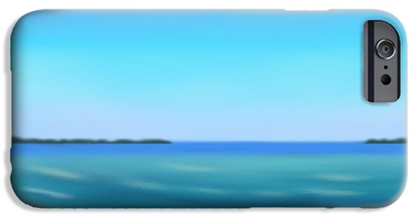 Abstract Seascape Pastels iPhone Cases - Calm Ocean iPhone Case by Jerod Roberts