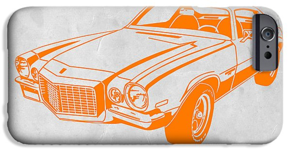 Vintage Car iPhone Cases - Camaro iPhone Case by Naxart Studio