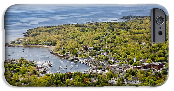 Mid-coast Maine iPhone Cases - Camden View iPhone Case by Susan Cole Kelly
