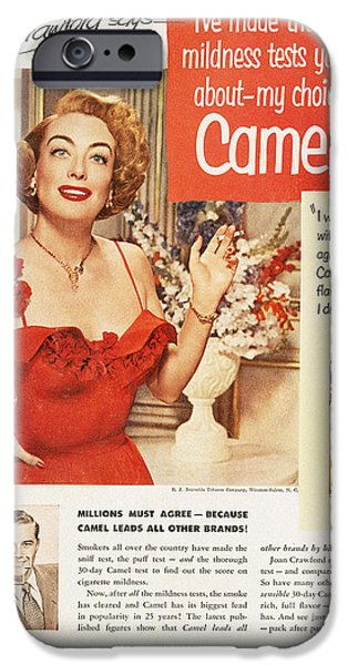 Endorsement iPhone Cases - Camel Cigarette Ad, 1951 iPhone Case by Granger