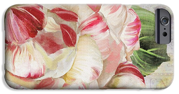 Stripes iPhone Cases - Camellia iPhone Case by Mindy Sommers