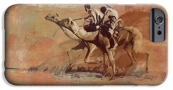 SAHARA iPhone Cases - Camels and Desert 11 iPhone Case by Mahnoor shah